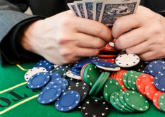 Poker for Bucks party or stag night, plying Texas Hold'em Poker